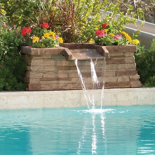 24 best images about water features on pinterest virginia pools and water fountains for Swimming pool fountains waterfalls