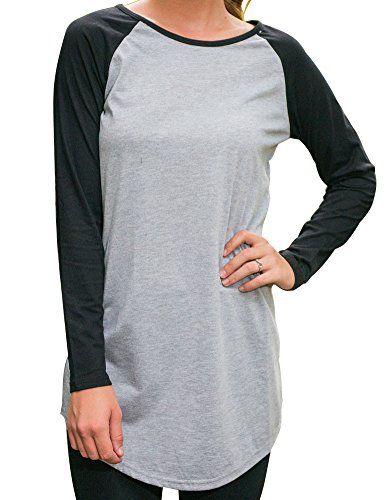 Allegrace Women Round Neck Long Sleeve T-shirt Blouse Casual Tops Long Tee Shirts - http://www.darrenblogs.com/2016/11/allegrace-women-round-neck-long-sleeve-t-shirt-blouse-casual-tops-long-tee-shirts/