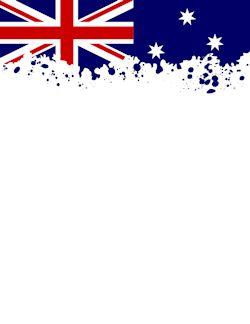 Australian Flag Border