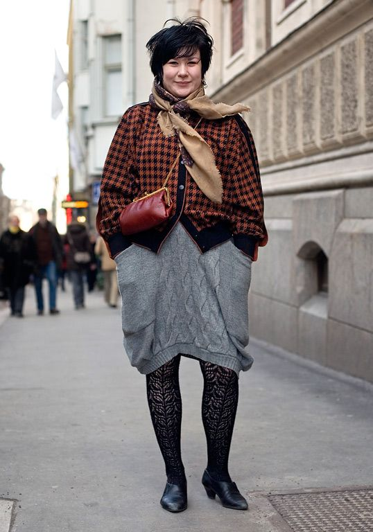 Ivana Helsinki dress under a thrifted jacket #streetstyle
