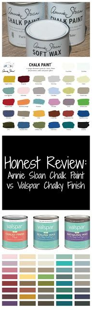 Honest Review: Annie Sloan Chalk Paint vs. Valpar Chalky Finish Paint. Get inspired and go paint!