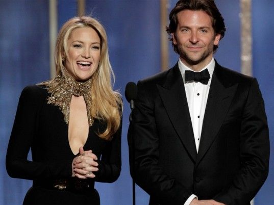 Bradley Cooper with Kate Hudson at The Golden Globes January 2013