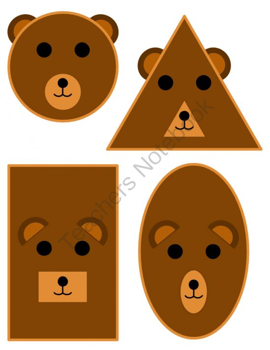 Shape Posters - Bear Theme from Mrs.Bearfield'sClass on TeachersNotebook.com -  (11 pages)  - Classroom shape posters with a bear theme.