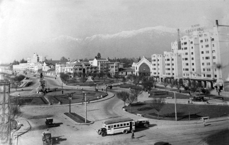 Plaza Baquedano y Estación Pirque, 1936