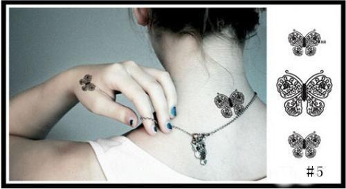 Temporary Tattoo Stickers Temporary Body Art Supermodel Stencil Designs Waterproof Tattoo Pattern