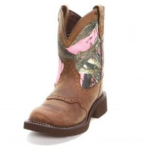Justin Gypsy Brown Camo Cowgirl Boots