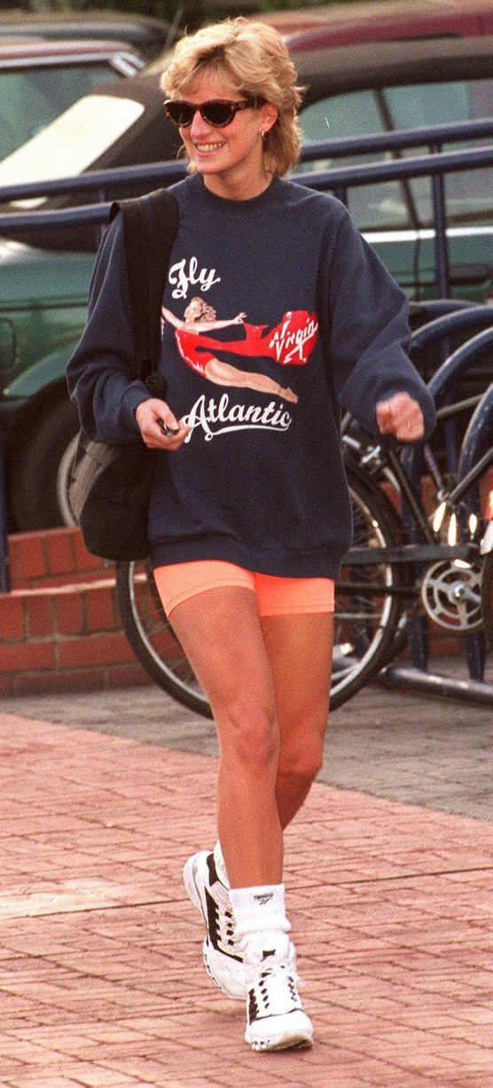 Sporty: Princess Diana at the Chelsea Harbour club in November 1995