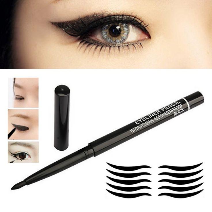 Wenkbrauw Eye Liner Black Eye Brow Pen Make Cosmetische Waterdichte Rotary Gel Crème
