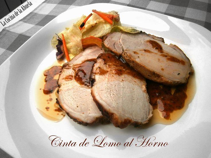 Cinta de lomo al horno. Receta paso a paso, receta de carne sencilla, cocina tradicional.