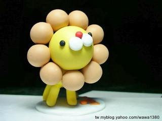 lion polymer clay Fimo 奶油獅 by CiCi Fimo, via Flickr