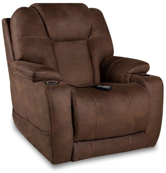 Espresso Brown Heat And Cool Power Recliner Oasis Power