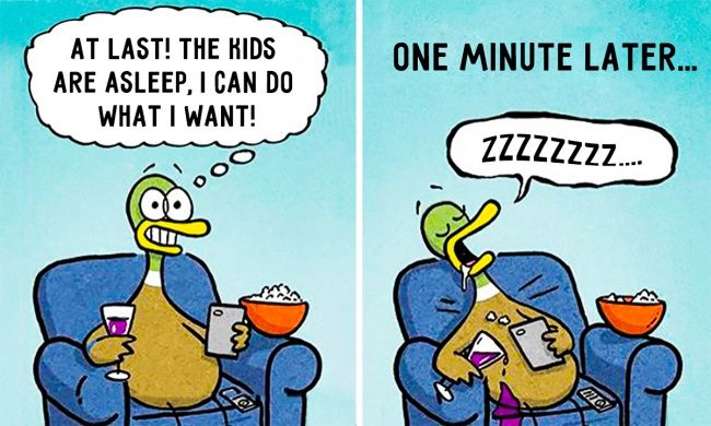 15 superb illustrations which absolutely every parent will understand