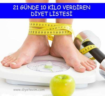21 günde 10 kilo verme