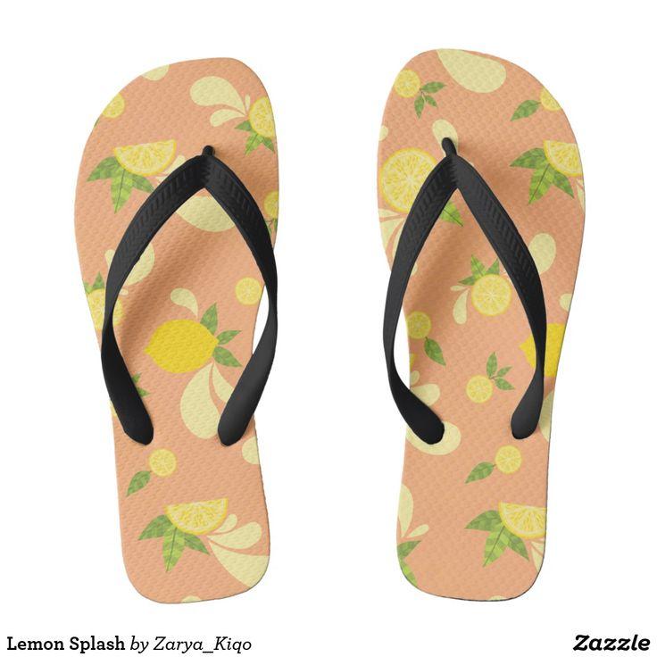 Lemon Splash  - a citrus inspired pattern in flip flops