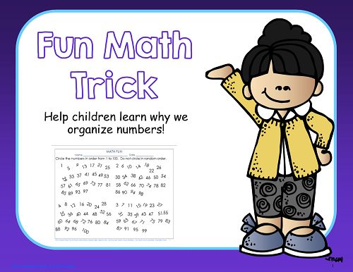 math trick for children to impress their parents, free printable