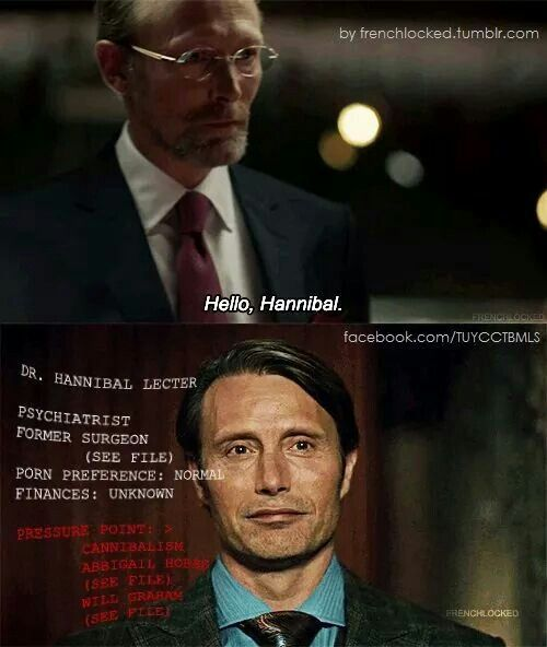 """What does it say about me that all I took away from that was that Hannibal's porn preference is """"normal""""?"""