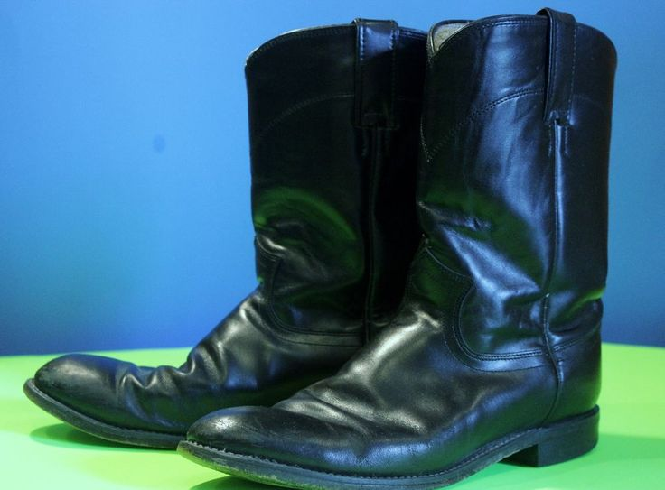 Justin Work Boots Sz 9 D Double Comfort Round Toe Black Yellow #Justin #WorkSafety