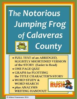 "analysis of the short story the celebrated jumping frog of calaveras county by mark twain also known Mark twain's the notorious jumping frog of calaveras county - mark twain's ""the notorious jumping frog of calaveras county"" mark twain's ""the notorious jumping frog of calaveras county"" is a short story with the lesson that what goes around comes around."