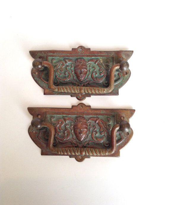 Antique drawer pulls