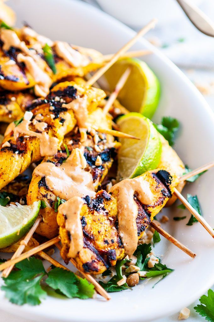 Chicken Satay Skewers With Peanut Sauce Recipe Chicken Satay