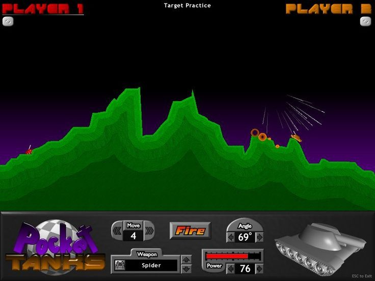 Official Pocket Tanks Website Artillery Game - BlitWise Productions, Shareware & Free Games