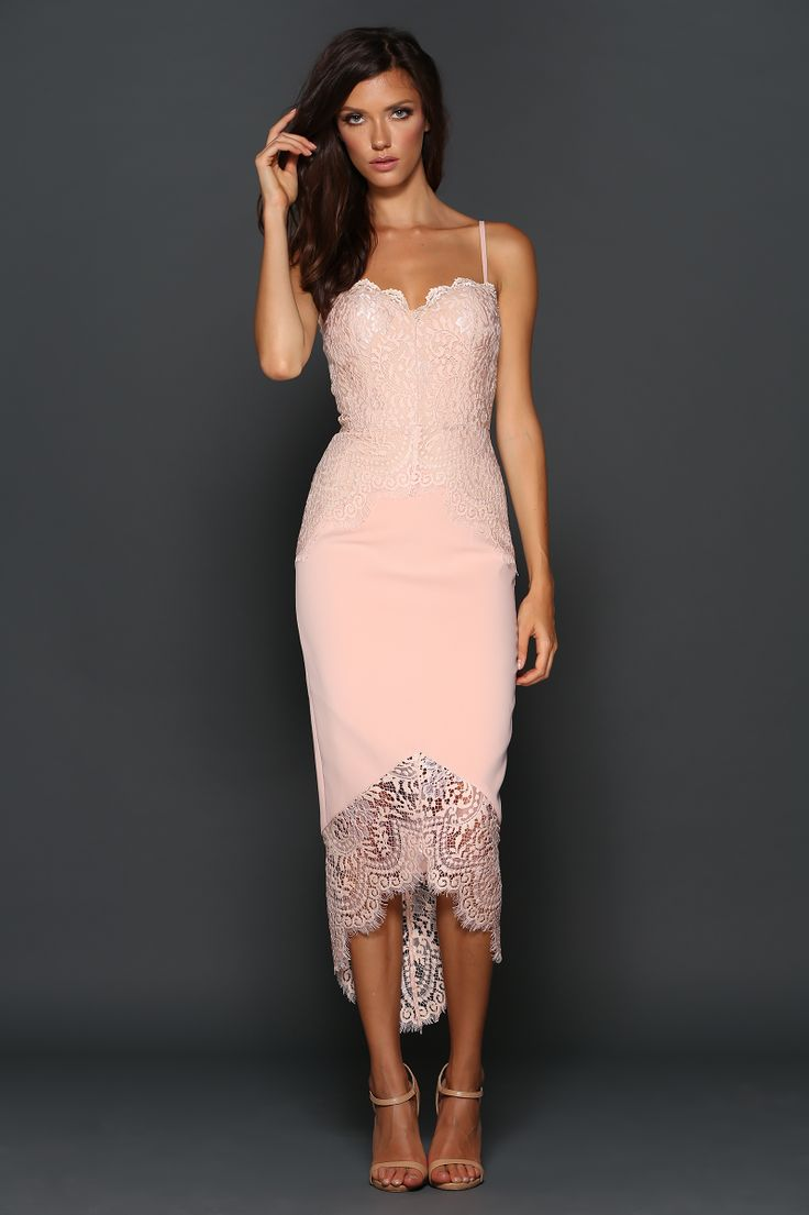 Elle Zeitoune Tash Dress Blush find it and other fashion trends. Online  shopping for Elle Zeitoune clothing. A beautiful midi length dress by  designer elle.