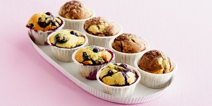Muffins med frugt - Opskrift - Amo