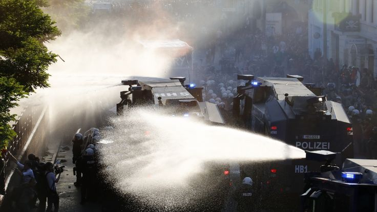 The Associated Press   German police say organizers of a protest against the Group of 20 summithave declared the march over after violence broke out at the start of the demonstrationinHamburg, Germany. Officers used water cannons and pepper spray to disperse black-hooded protesters at the... - #Br, #Disperse, #G20, #German, #News, #Police, #Protesters, #Violence