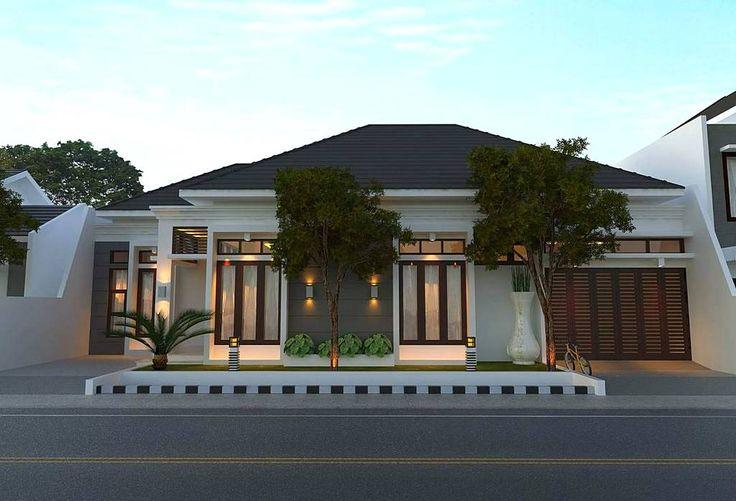 Model Rumah Minimalis Mewah Dengan Gaya Modern 1 Lantai Tampak Depan