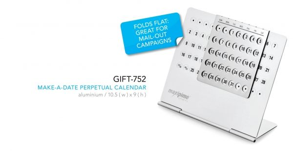 Make-A-Date Perpetual Calenders Abs With Aluminium Plate 9.9 ( L ) X 6.6 ( W ) X 1.6 ( D )