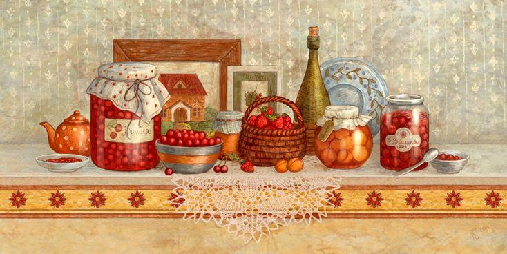 Сообщество иллюстраторов / Иллюстрации / Галина Егоренкова / Полочка с вареньем