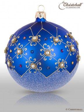 Christbaumkugeln Blau.Prächtig Pompös Christbaumkugeln Royal Blau 2er Christoball
