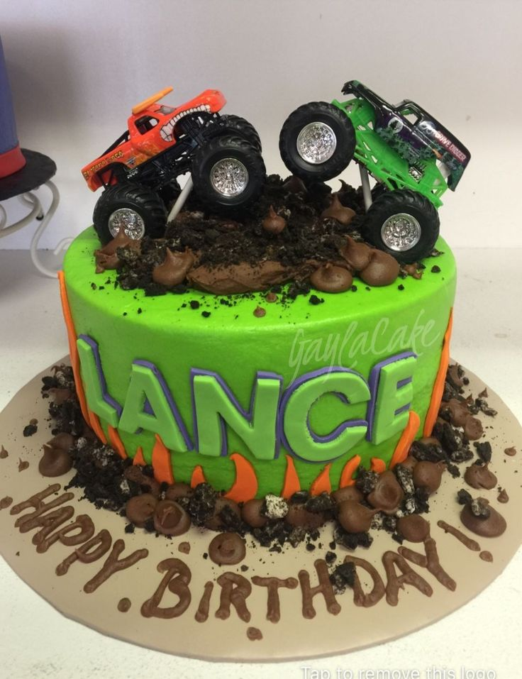 Truck Geburtstagstorte Monster Truck Geburtstagstorte Custom Cakes Pinterest Monster   – Kains 2nd birthday