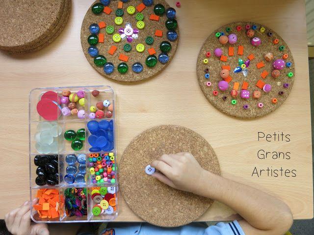 """Petits Grans Artistes!: MANDALAS DE """"QUITA Y PON"""""""