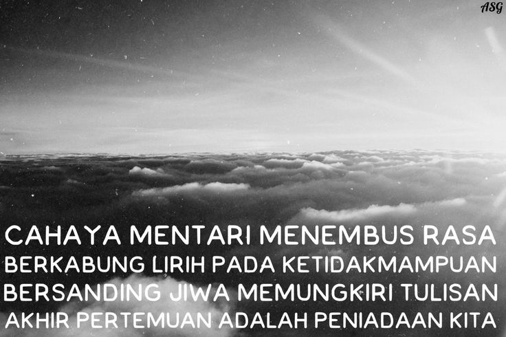 Langit Jakarta, Puisi Monokrom l Penyesatan Cahya -ASG-
