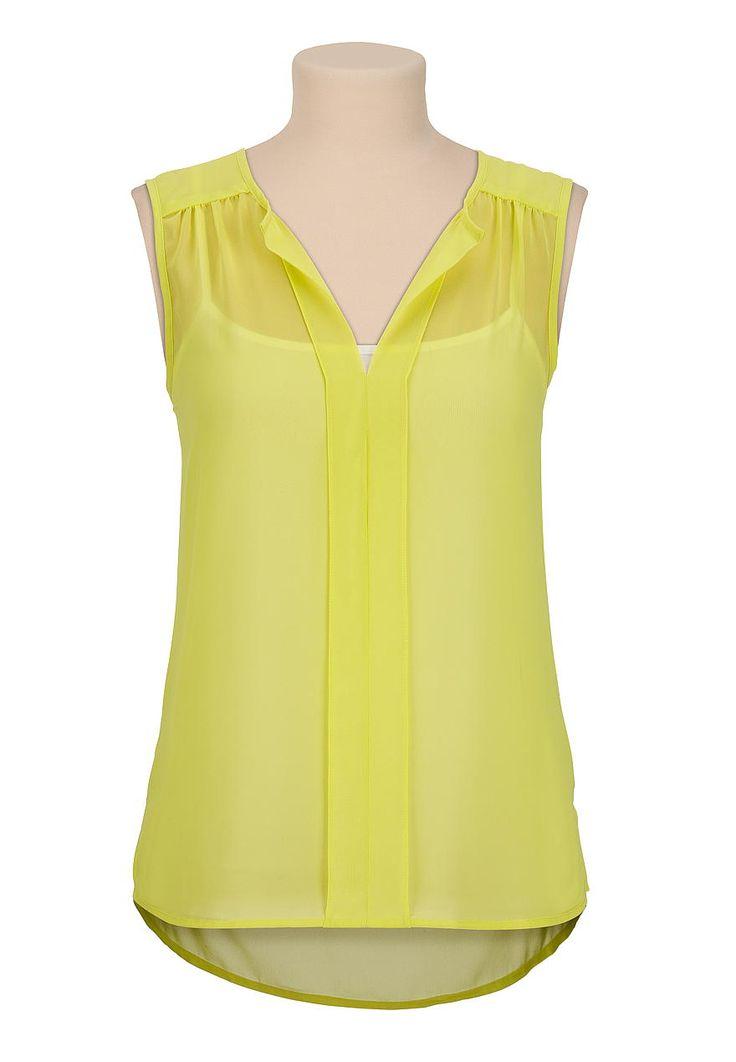 sleeveless chiffon high-low blouse @ maurices