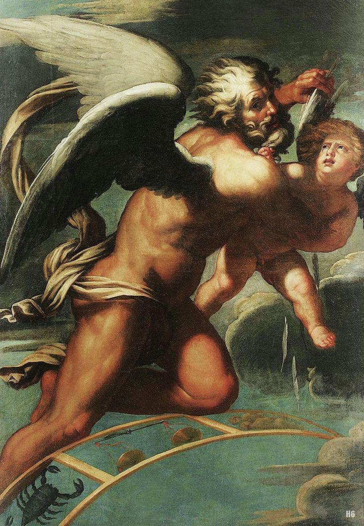 SACCHIS Giovanni Antonio de - le Temps coupe les ailes d'Eros - ca.1530
