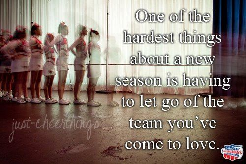 I hate that part every year. And every year I come even closer to my team even more and some people I never get to call them my teammate again:(