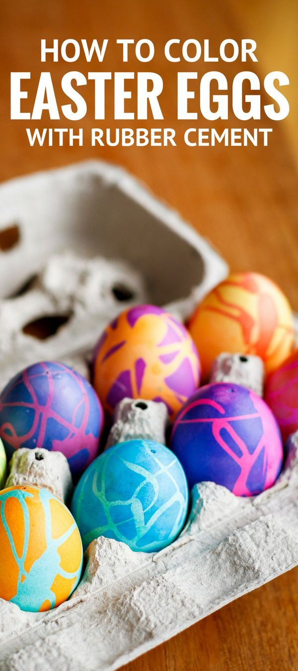 The kids will love this fun way to color Easter eggs with vibrant colors!