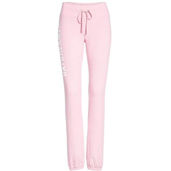 Women's Dream Scene Daydreamer Skinny Sweatpants (205 BRL) ❤ liked on Polyvore featuring activewear, activewear pants, pantalones, pants, pink, skinny fit sweatpants, pink sportswear, pink sweat pants, skinny sweat pants and super skinny sweatpants