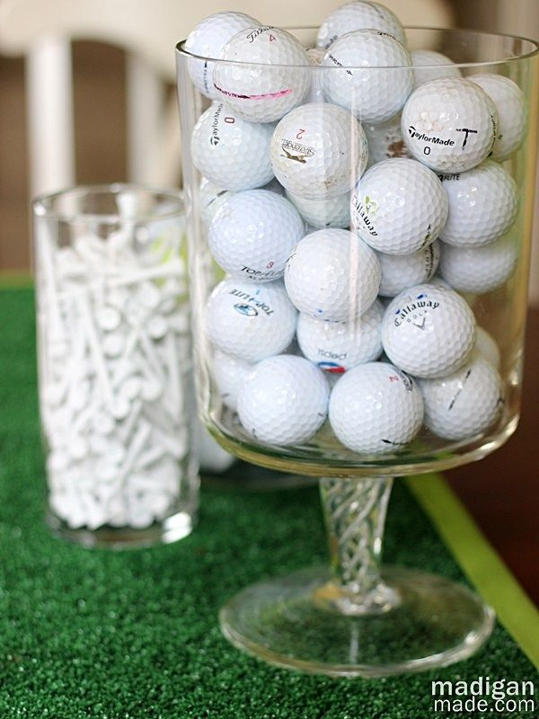Golf ball vase filler decoration idea cool things