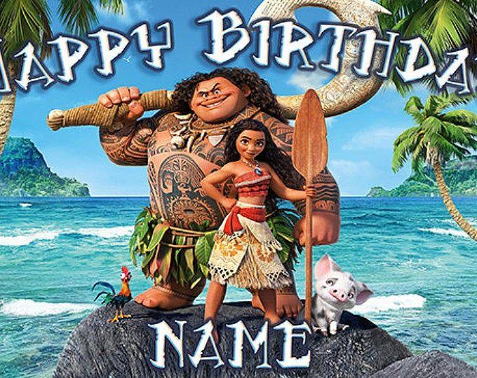 Moana Banner Moana Party Moana Birthday Moana Party Wall Etsy Moana Birthday Moana Banner Moana Theme Birthday