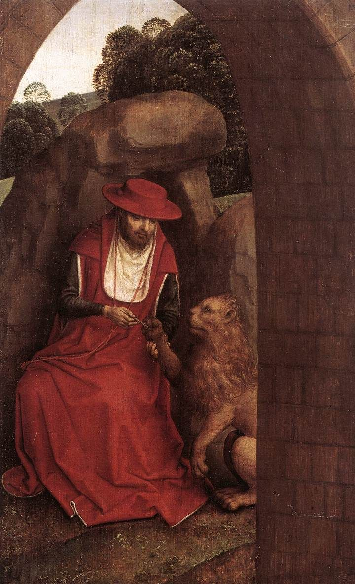 Hans Memling, St. Jerome and the Lion, c. 1485 - 1490