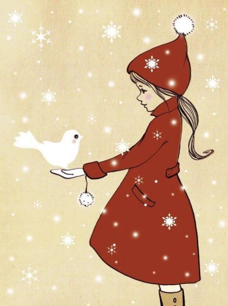 Elle and the Snow Dove by belleandboo