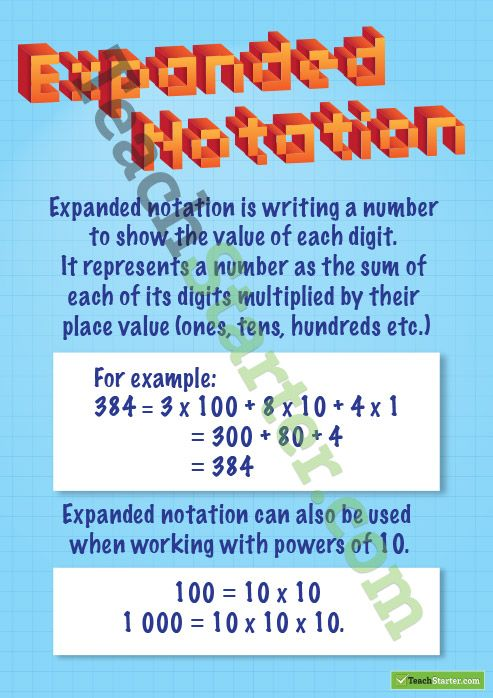 7 best Math - Expanded notation images on Pinterest   Expanded ...