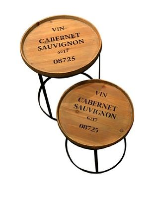 60% OFF Set of 2 Iron Accent Tables