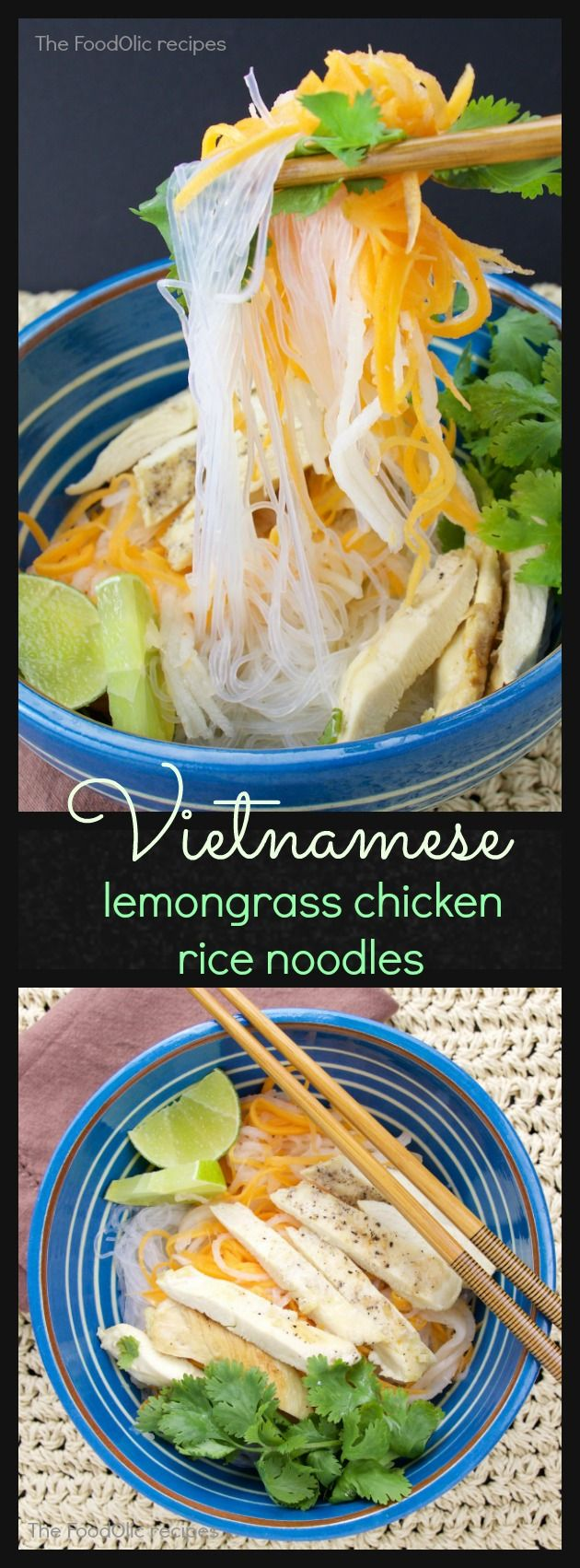 If you are looking for some light, flavored filled dish for this summer, this vietnamese glass noodle with lemongrass chicken strips is a great way to go. Everything in there is packed with flavors, although low in calories. #vietnamese #food #noodles