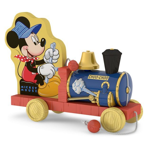 Choo-Choo Mickey Mouse Train Ornament
