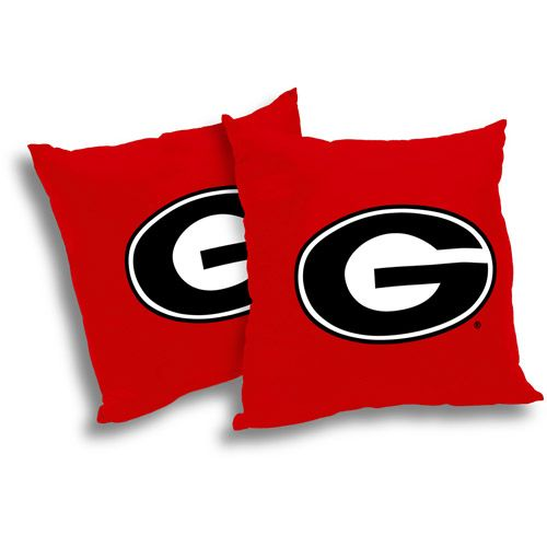 NCAA Georgia Bulldogs Pillow Set, 2pk