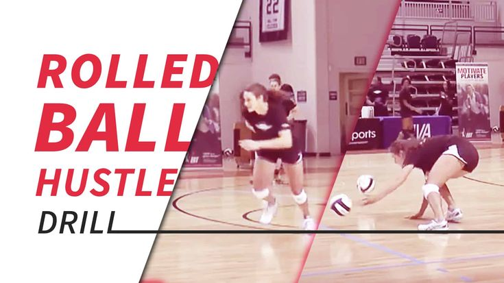 Rolled Ball Hustle Drill With Genny Volpe Coaching Volleyball Volleyball Drills Volleyball Training